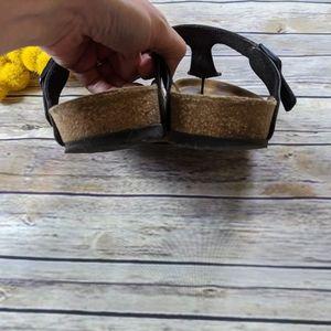 Birkenstock Shoes - Birkenstock Gizeh Black Birko-Flor Thong Sandals
